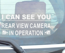 1 x Window Sticker-I Can See You-Rear View Camera In Operation Security Warning-200mmx87mm-CCTV Sign-Van,Lorry,Truck,Taxi,Bus,Mini Cab,Minicab